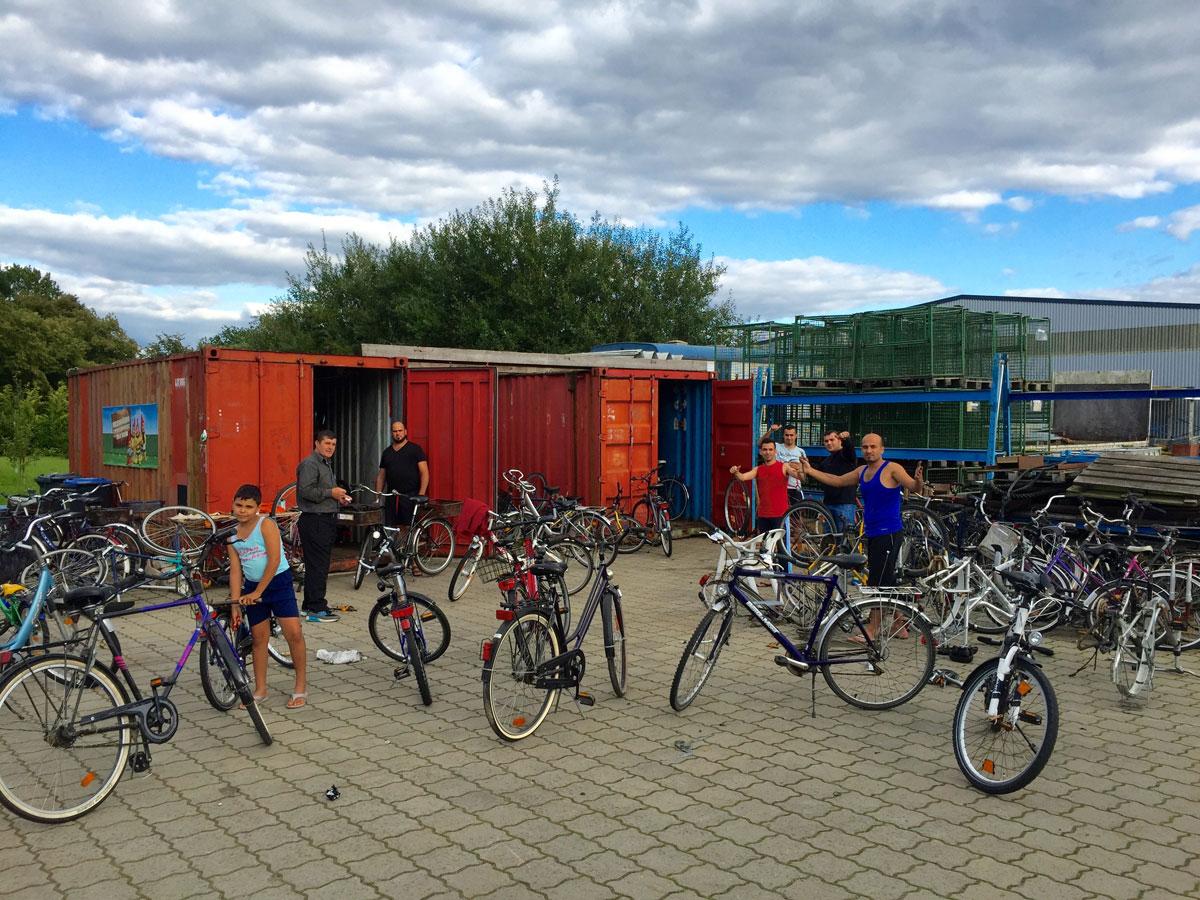 Aufarbeitung von Fahrrädern